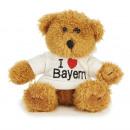 Großhandel Spielwaren: Bär aus Plüsch mit Pullover 'I love Bayern', 15 cm
