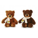 Bear of plush, sitting with scarf, 30 cm