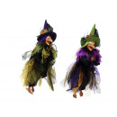 Witch made of poly, flying, 50 cm