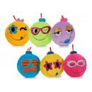 grossiste Coussins & Couvertures: coussins Smiley peluche, coloré, 30 cm