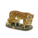 Tiger with 2 boys made of poly 8 x 4 x 6 cm