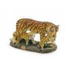 Tiger mit 2 Jungen aus Poly 8x3 x5cm