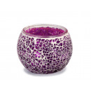 wholesale Candles & Candleholder: Lantern with purple mosaic pebbles, 8 x 10 cm Ø