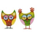 Owl with metal pen, 19 cm