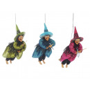 wholesale Home & Living: Witch made of poly, flying, 35 cm