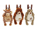 Backpack Wild animals made of plush, 40 cm
