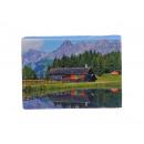 wholesale Decoration: Canvas alpend landscape on wooden frame