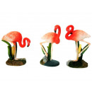 Flamingo made of poly 5 x 3 x 9 cm
