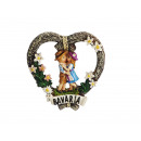Großhandel Dekoration: Magnetherz BAVARIA aus Poly, 6x1x6cm