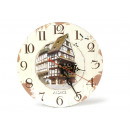 Wooden wall clock 'Alsace', 24 cm