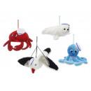 Sea animals of plush, 25 cm