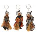 Großhandel Dekoration: Hexe aus Poly mit Schlüsselanhänger, 5x4x12cm