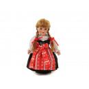 Großhandel Spielwaren: Puppe Trachtenmädchen aus Porzellan 21cm