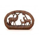 3D image of poly with deer family 24 x 15 cm