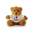 wholesale Pullover & Sweatshirts: Bear in plush with white sweater, 15 cm