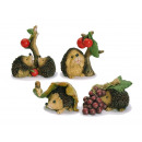 Hedgehog with fruits made of poly, 6 cm