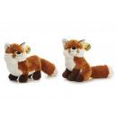 Großhandel Spielwaren: Fuchs aus Plüsch, 2-fach sortiert, 12x25x20cm