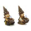 Pine cones Wichtel made of poly, 14 cm
