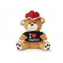 Bear from plush, 'I love Schwarzwald' 28 c