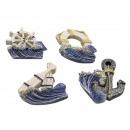 Különböző tengeri motívumokból készült mágnes szor