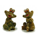 wholesale Toys: Porcelain frog, sitting, 13 x 11 x 16 cm