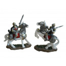 Knight of poly on horse, 10 cm