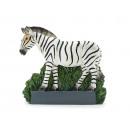 Großhandel Kunstblumen: Zebra Magnet aus Poly 6,5x1,5x6cm