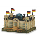 Berlin Reichstag 3D made of poly, 10 x 7 x 5 cm