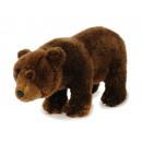 nagyker Játékok: Plüss barna medve, álló, 30 cm
