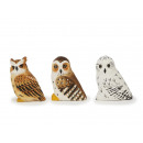 Owl made of solid wood, 8 cm