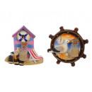 groothandel Stationery & Gifts: Magneet zee ontwerp gemaakt van poly, 8 x 8 cm