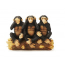 Monkey 'Indian Wisdom' made of poly, 14 cm