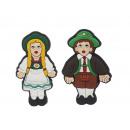 Magnet Bavarian couple, 8 cm