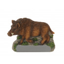 Wild boar magnet made of poly, 7x1x5cm