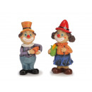 wholesale Toys: Clown made of poly with vegetables, 7 x 5 x 17 cm