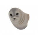 Seal head magnet made of poly 6x4x8cm