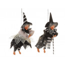 wholesale Home & Living: Poly witch, flying, 12x8x37cm