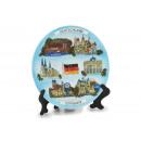 mayorista Regalos y papeleria: plato Deutschland / Germany poli, 15 cm