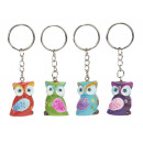 Owl made of poly with key ring, 3 cm