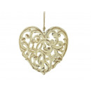 wholesale Home & Living: Wooden heart with hanging 25 x 25 cm