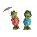 Frog with raincoat made of ceramic, 12 cm