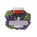 Wine glass magnet made of poly, 7x1x6cm