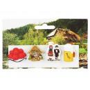 Großhandel Geschenkartikel & Papeterie: Magnet aus Poly 4er Set 'Schwarzwald' 3 cm