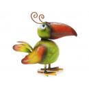 Vogel met lente metaal, 16 cm