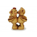 Bear pair of poly standing, 7 cm