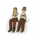 Pair of costumes, made of poly, 16 cm