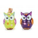 Spardose owl made of ceramics, 17 cm