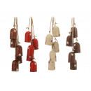 Dzwony wykonane z metalu, 5 sztuk na sznurku, 36 c