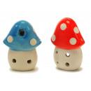 Porcelain mushroom mushroom, 6x3x7cm