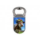 Metal magnet bottle opener cow cattle drive, 4x9cm